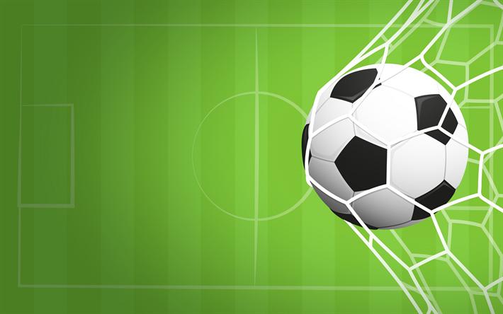 Download imagens Futebol, meta, bola de futebol, campo de futebol.