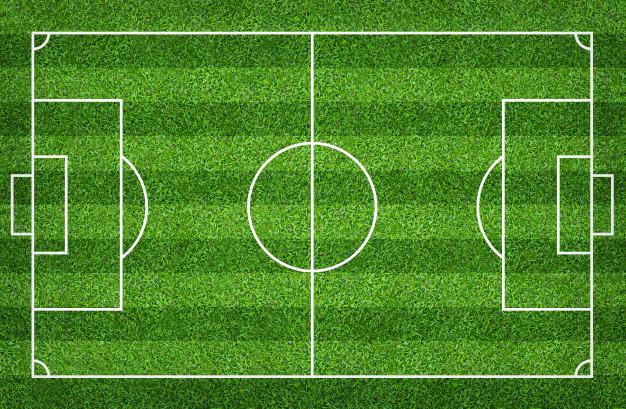 Campo de futebol ou campo de futebol para o fundo.