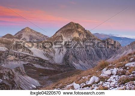 Stock Photography of Gran Sasso and Monti della Laga National Park.