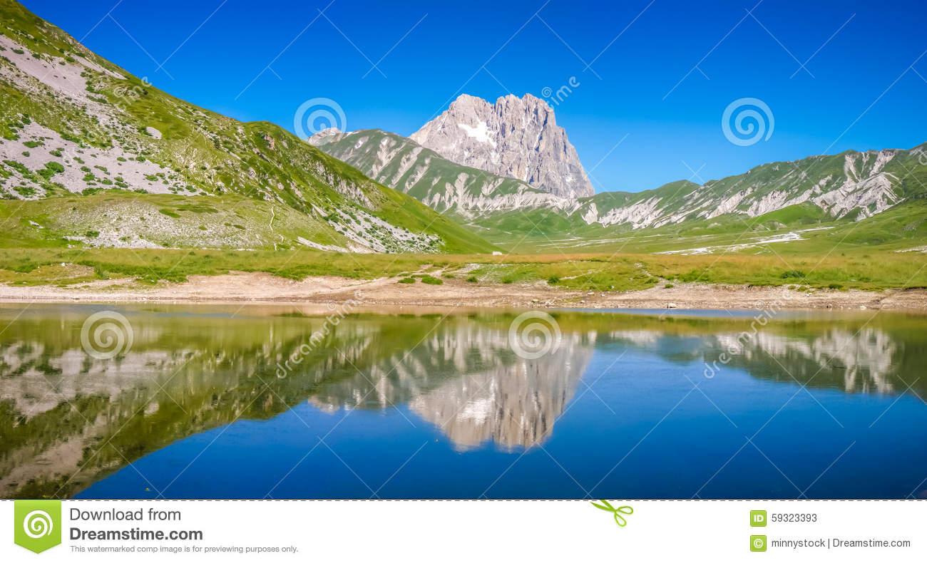 Gran Sasso, Campo Imperatore Plateau, Abruzzo, Italy Stock Photo.