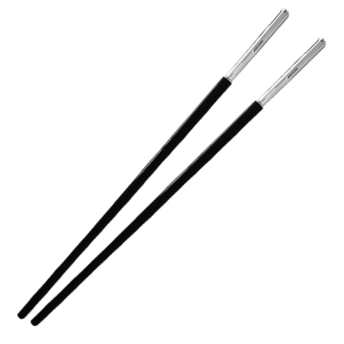 Black Chopsticks with Hallmarked Sterling Silver Ends (can be.