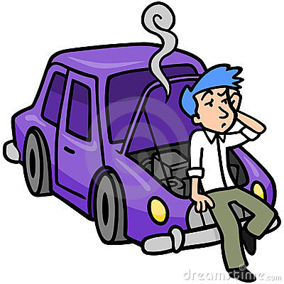 Car trouble clip art.