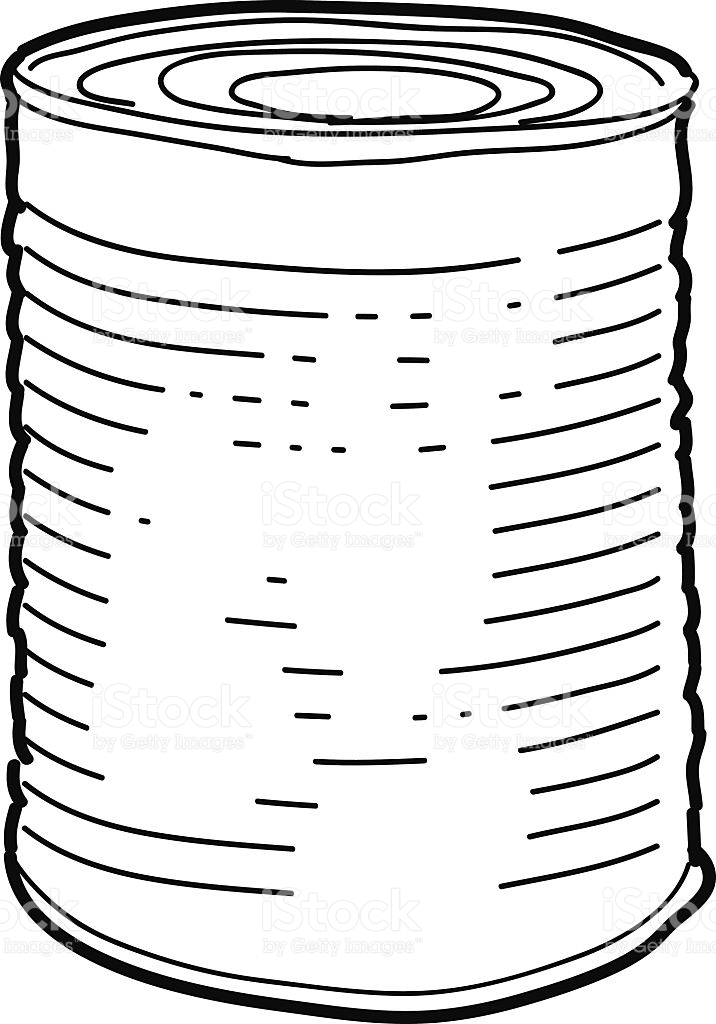 Tin can clipart black and white 6 » Clipart Station.