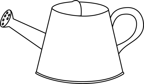 Black and white watering can clip art.