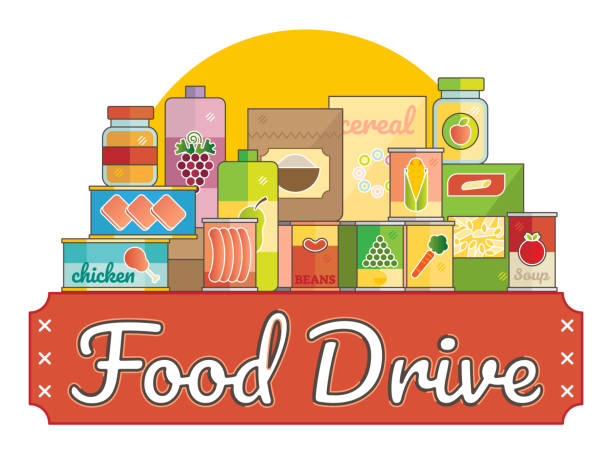 Best Food Drive Illustrations, Royalty.