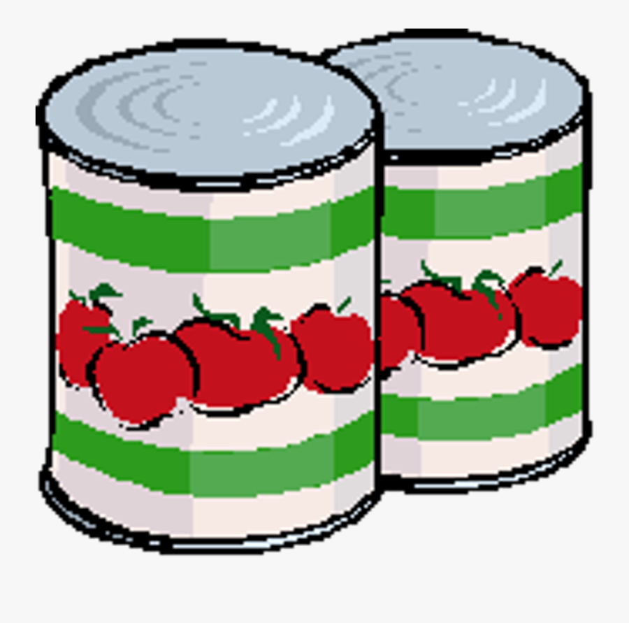 Canned Foods Clip Art.