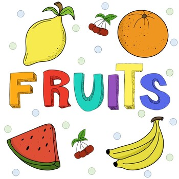 FREE! Fruit Clip Art / For Commercial Use! by The Bilingual Shop.