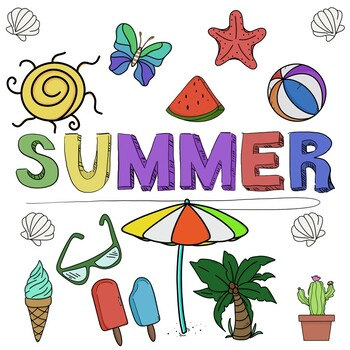 FREE! Summer Clip Art / For Commercial Use!.