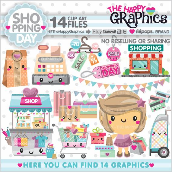 Shopping Clipart, Shopping Graphics, COMMERCIAL USE, Shop Graphics, Planner  Accessories, Shopping Girl, Store, Shopping Day.