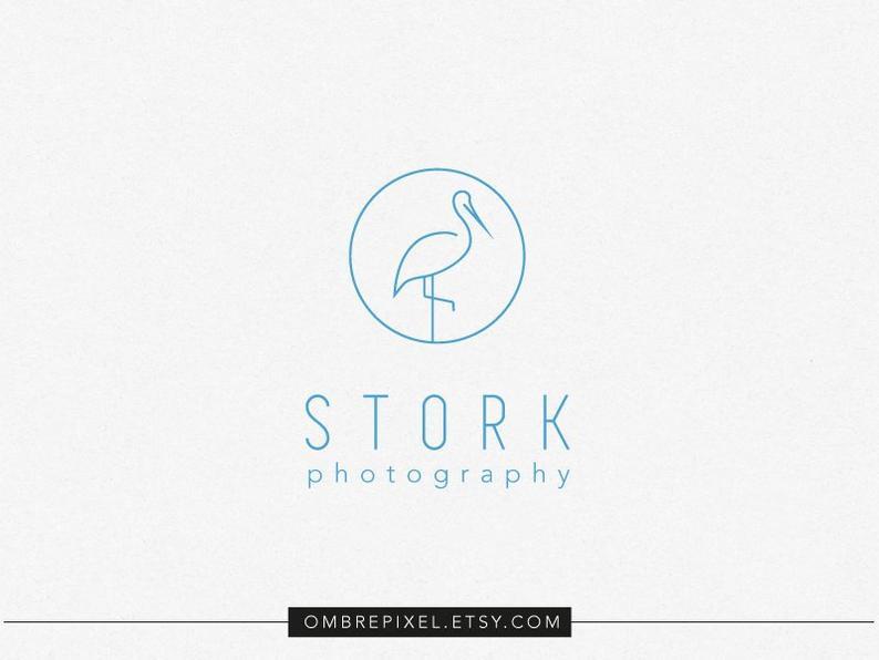 premade stork logo design.