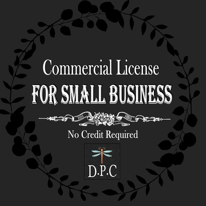Commercial Use, License,No Credit Required, Logo Use, Clipart License,  Single Product,Small Business Use.