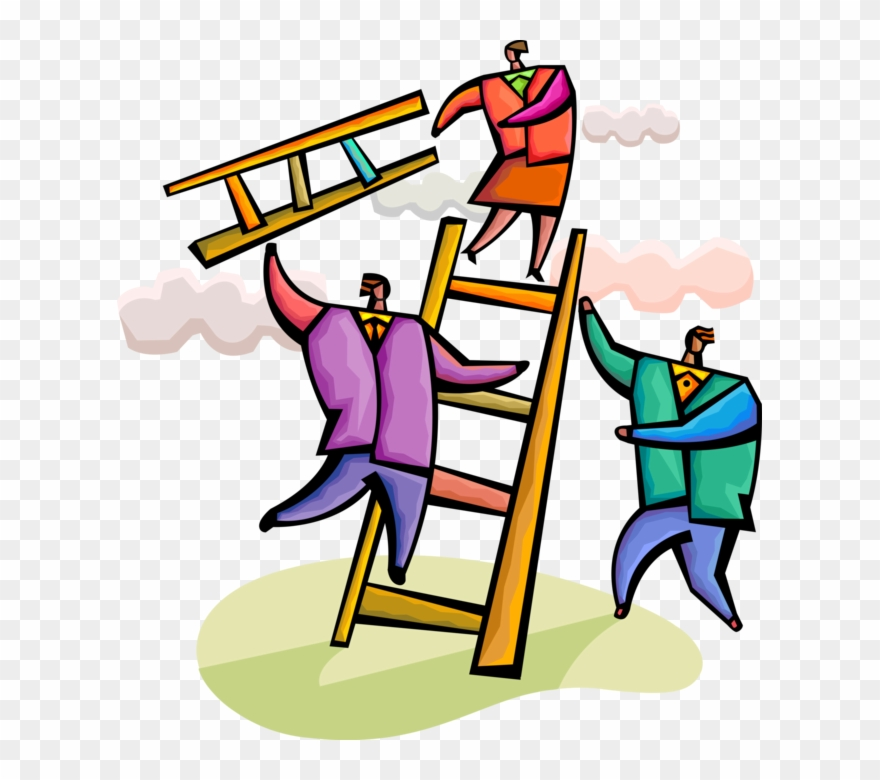 Vector Illustration Of Business Associates Use Teamwork.