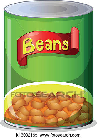 A can of beans Clipart.