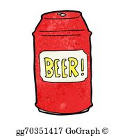 Can Of Beer Clip Art.