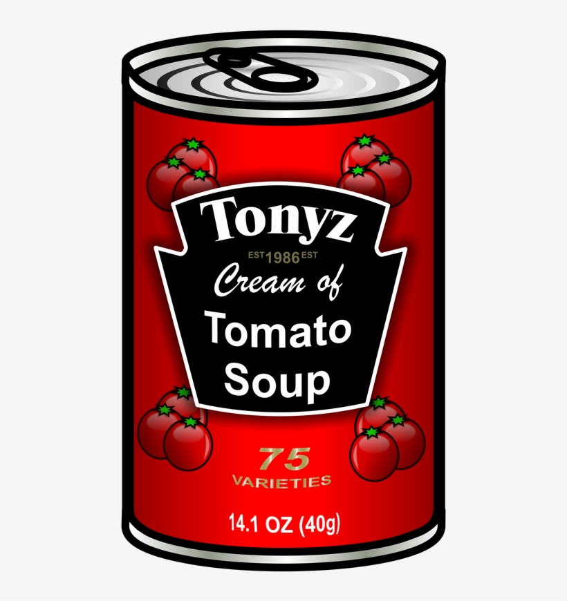 Vector Can Of Soup Clipart.