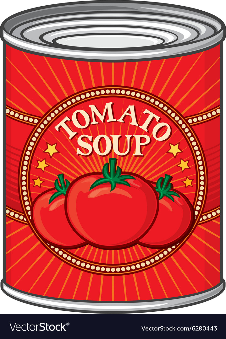 Tomato soup can.