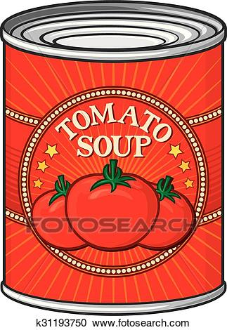 Can of tomato soup Clipart.