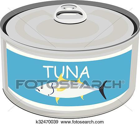 Can of tuna Clip Art.