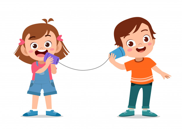 Kids telephone toys with can Vector.