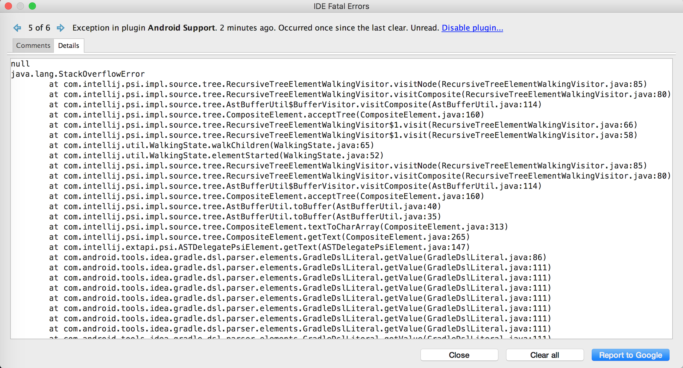 Cannot open layout xml file after update to android studio 2.3.