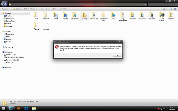 Can't open folders when double.