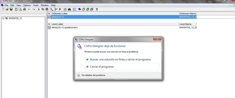 i can't open CsPro Designer on Windows 7 sp 1.