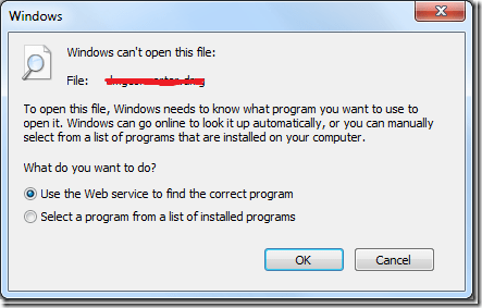 """How to Bypass """"Windows Can't Open This File:"""" Dialog Box in Windows."""