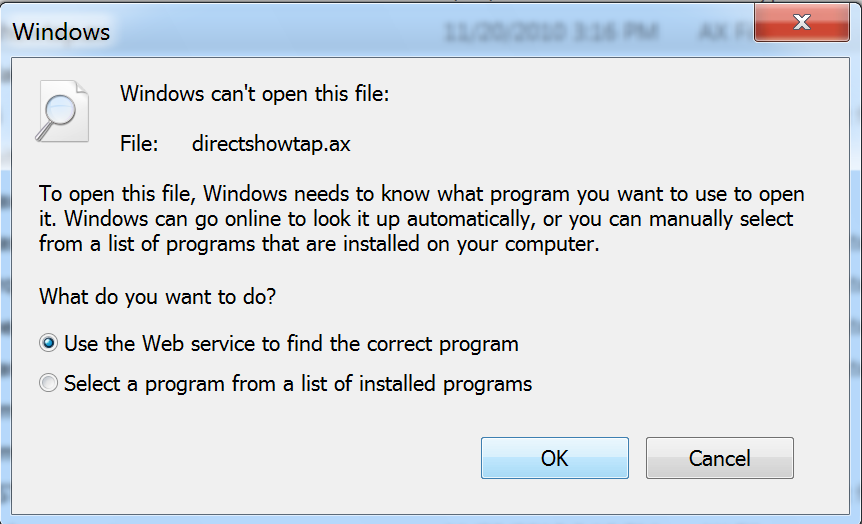 Use the web service to find the correct program service is broken.