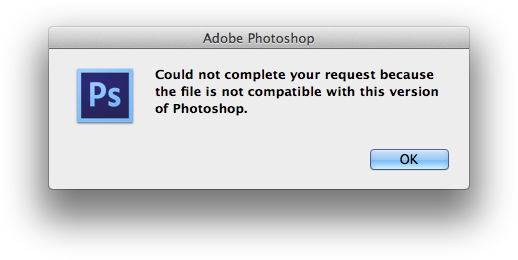 Not compatible with photoshop: How to open a corrupt #Photoshop file.