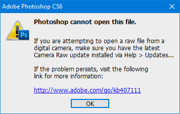 How to open RAW image in Adobe Photoshop CS6 or CC.