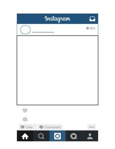 Instagram clipart printable Bulletin Board Freebie.