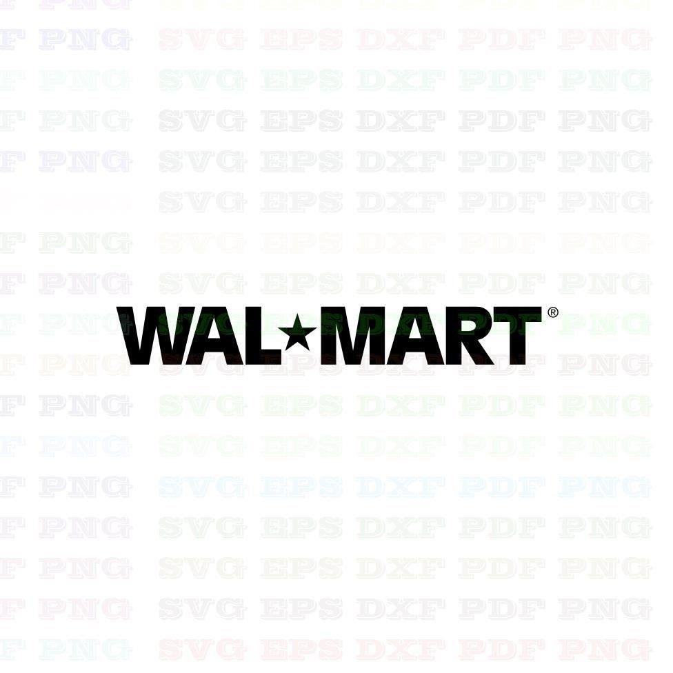 Walmart 1 Logo Trademark Brand Svg Dxf Eps Pdf Png, Cricut, Cutting.