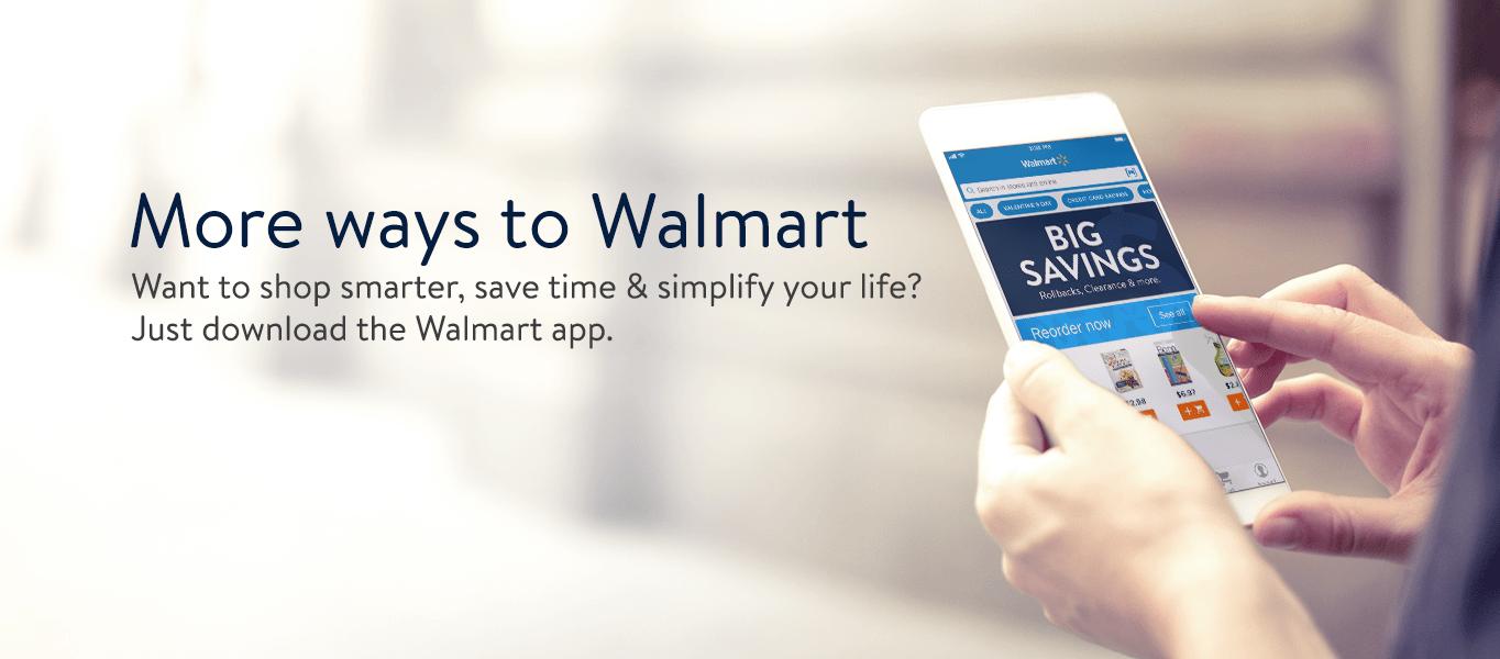 Walmart Mobile App.