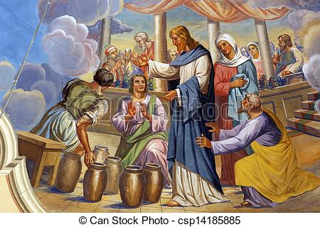 Pictures of Marriage at Cana or Wedding at Cana csp14185885.