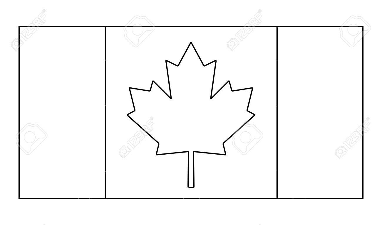 Canada flag outline vector symbol icon design. Beautiful illustration...