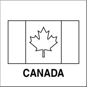 Clip Art: Flags: Canada B&W I abcteach.com.