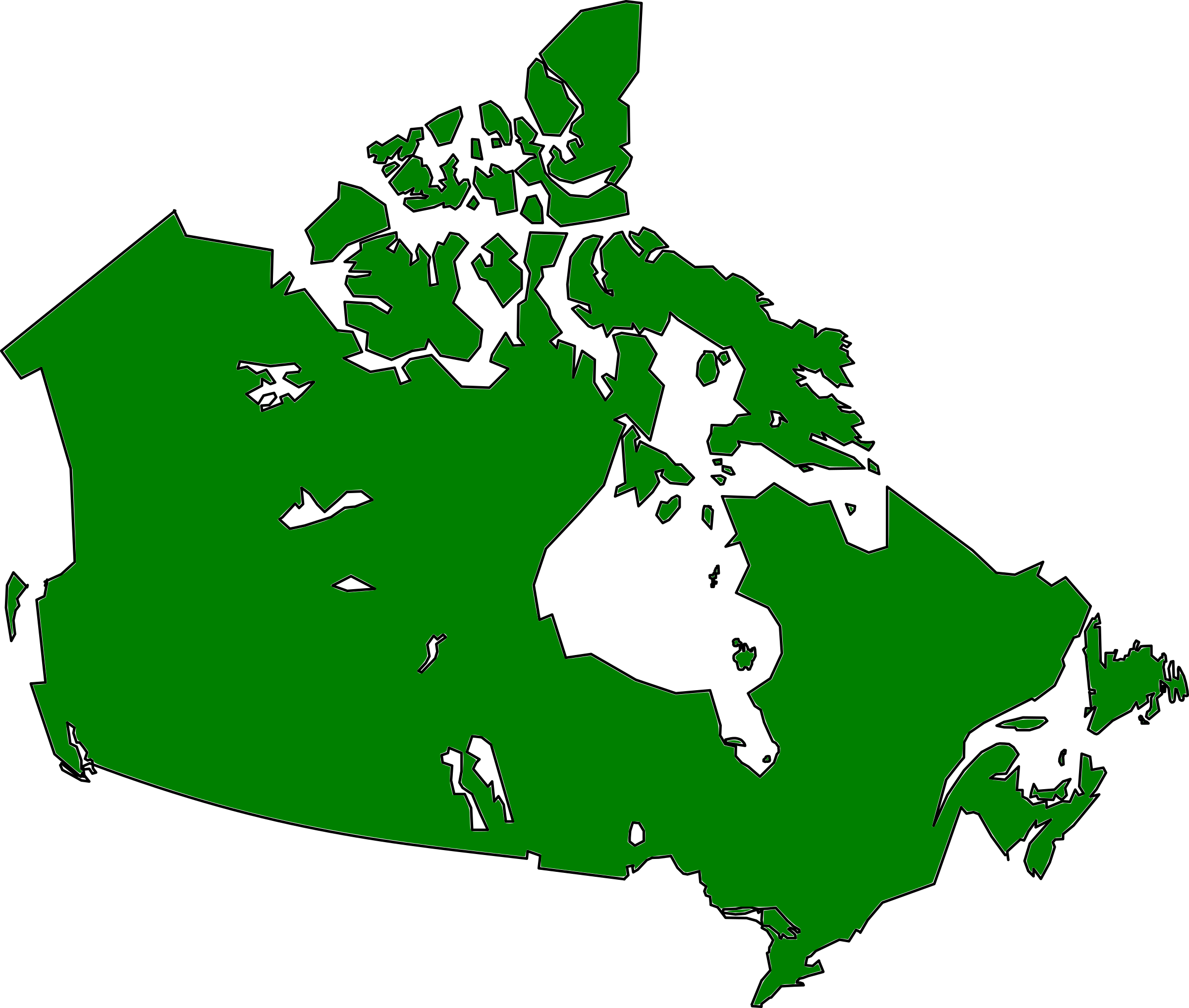 Big Image Map Of Canada Clipart.