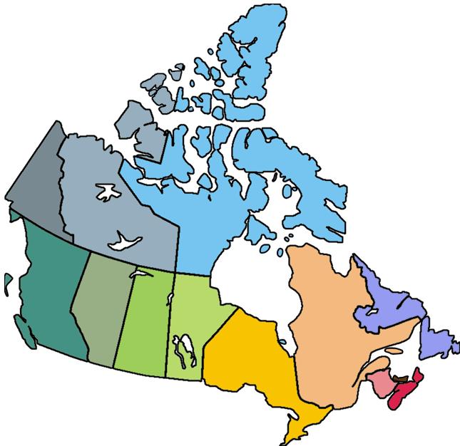 Blank Canada Map.