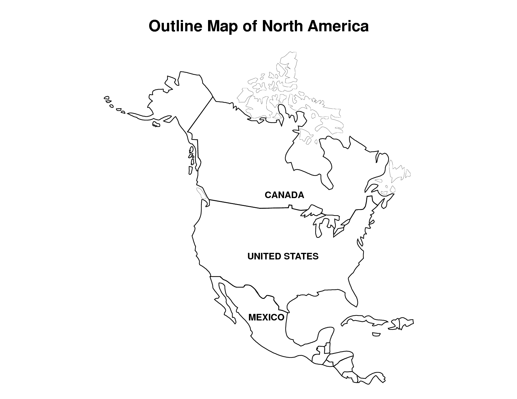 Canada Clipart Map Outline Png
