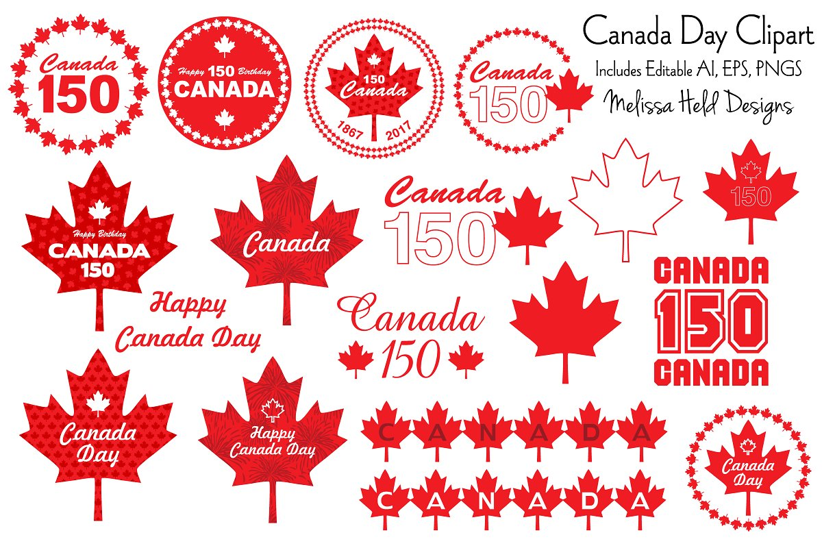 Canada Day Clipart Graphics.
