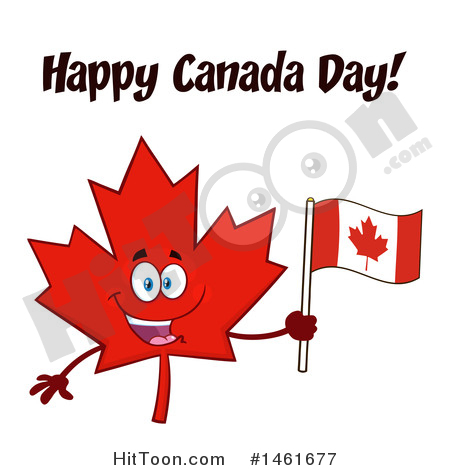 Maple Leaf Clipart #1461677: Red Maple Leaf Mascot Character Holding.