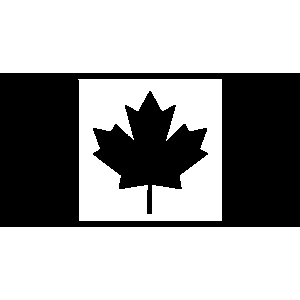 Canada Flag Clipart Black And White.
