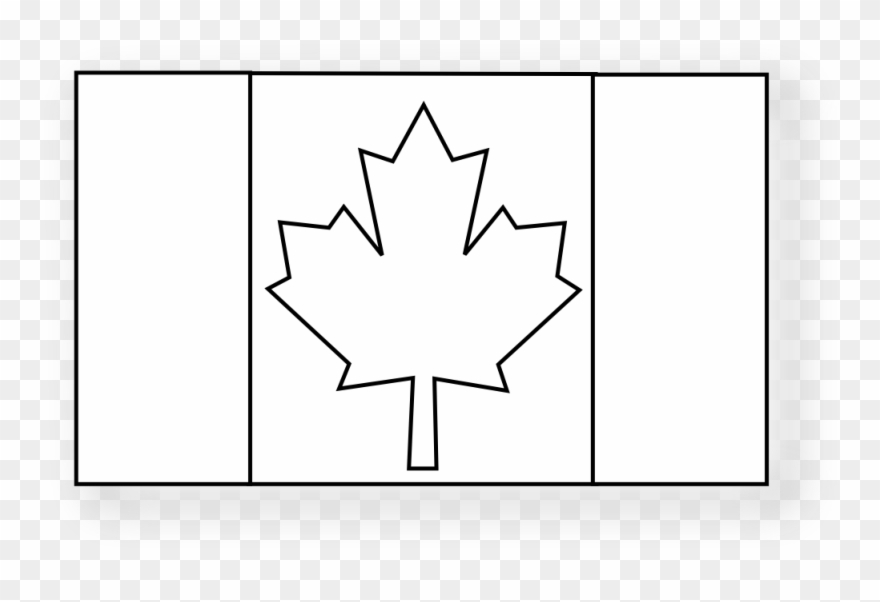 Canadian Flag Black Coloring Book Svg Colouringbook.
