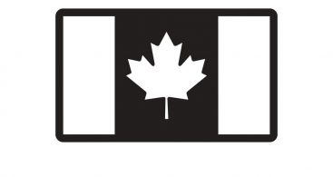 Black And White Canada Flag Vector Archives.