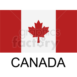 canada flag icon clipart. Royalty.