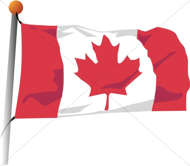 Canadian flag clipart 4 » Clipart Station.