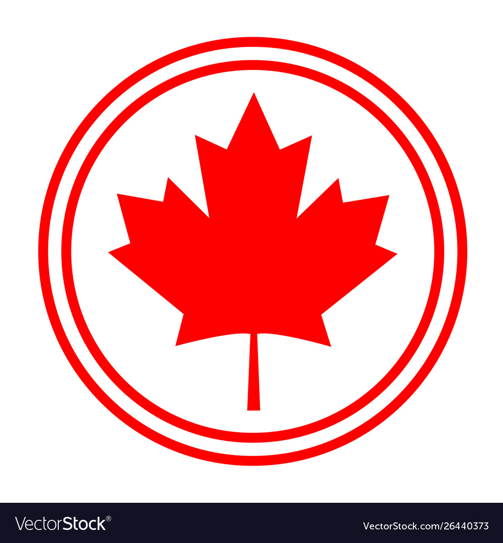 Canadian maple red leaf logo symbol sign icon.