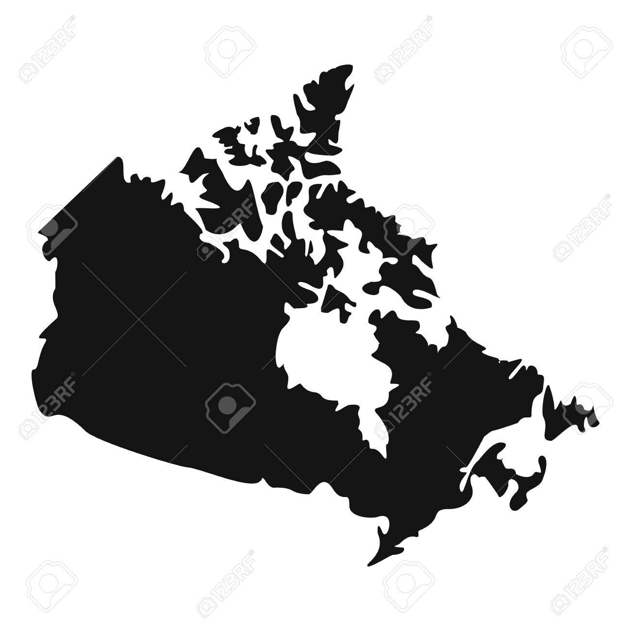 Canada map icon. Simple illustration of Canada map vector icon...