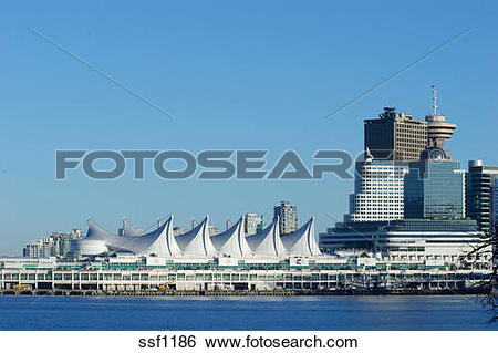 Stock Images of Canada Place and Harbour Center with new.