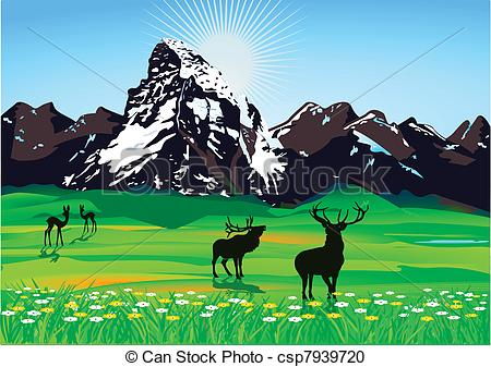 Mountain scenery Illustrations and Clip Art. 7,121 Mountain.